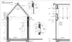 Tekening nieuwbouw schuur